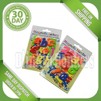 78pc Fridge Magnet Magnetic Alphabet Letter Number Kids Learning Teaching Toy Uk • 6.69£