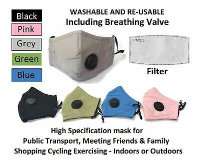 Pm2.5 Anti Air Pollution Reusable Washable Cycling Unisex Adjustable Face Mask  • 0.99£