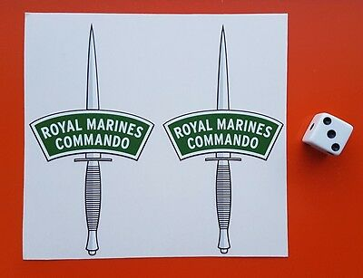 £2.99 • Buy ROYAL MARINES COMMANDO DAGGERS  Small Stickers Decals Contour Cut Set Of Two