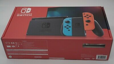AU450 • Buy Brand New Nintendo Switch Neon Joy-Con Console NEW UNOPENED