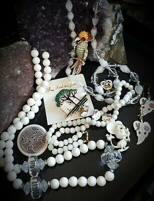 $ CDN12.95 • Buy 💕Vintage Jewelry Lot,Unique Brooches,Stunning Beads Necklaces,Earrings💕Lot#8