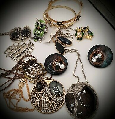 $ CDN16.95 • Buy 💕Sweet Vintage To Now Costume Jewelry Lot Rhinestones,OWLS, And More!!💕 Lot#7.