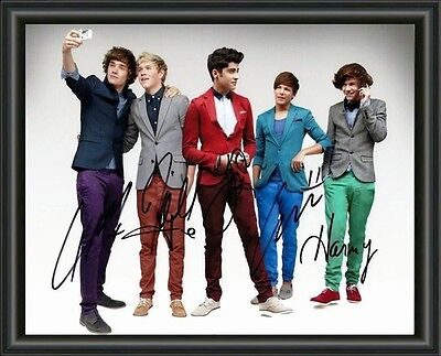 AU9.95 • Buy One Direction  - Signed Autographed Group 1 - A4 Photo Poster Free Postage