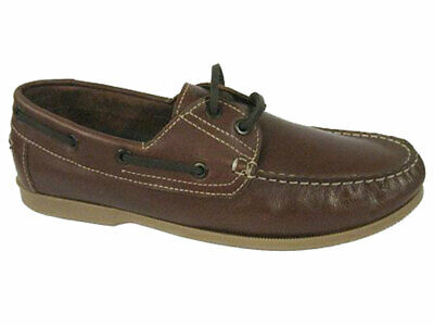 Yachtsman Mens Traditional Real Leather Boat Deck Shoes • 38.68£