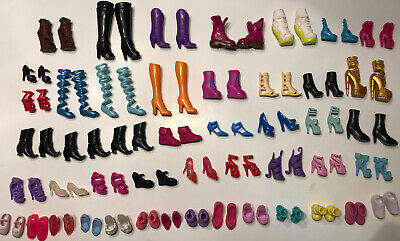 $ CDN28.96 • Buy Lot Of Barbie And Monster High Shoes Vintage, Original, 47 Pairs Very Nice!  L11