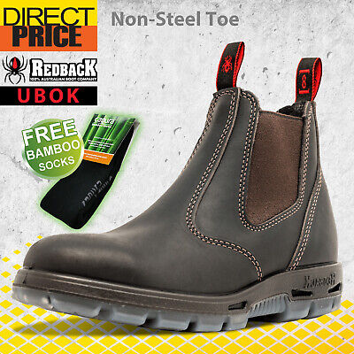 AU107.95 • Buy Redback UBOK Non Safety Work Boots. NO Steel Toe. Elastic Sided Bobcat Oiled Kip
