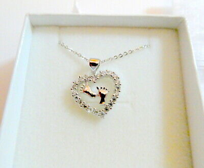 £8.79 • Buy A Piece Of My Heart Is In Heaven Remembrance Lost Baby Crystal Heart Necklace