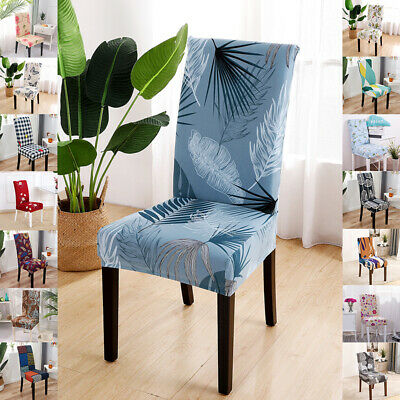 AU15.69 • Buy Universal Dining Chair Covers Removable Slipcovers Elastic Wedding Banquet Decor