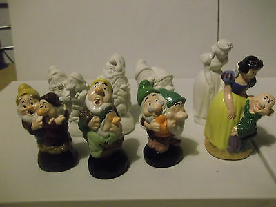 Disney Snow White And The Seven Dwarves Paint Your Own Figures • 6.50£