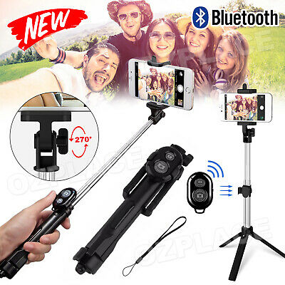 AU10.95 • Buy Monopod Selfie Stick Handheld Tripod Bluetooth Shutter For IPhone 7 8 X Samsung