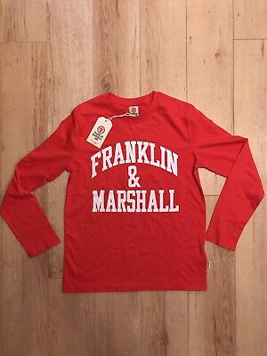 Genuine Franklin & Marshall Junior Long Sleeved T-shirt Top Age 12-13 RED New • 10£