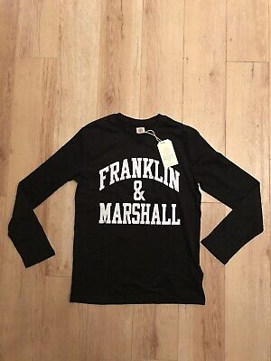 Genuine Franklin & Marshall Junior Long Sleeved T-shirt Top Age 5-6 Black  New • 10£