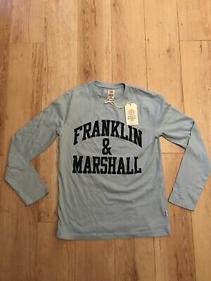 Genuine Franklin & Marshall Junior Long Sleeved T-shirt Top Age 7-8 Blue  New • 10£