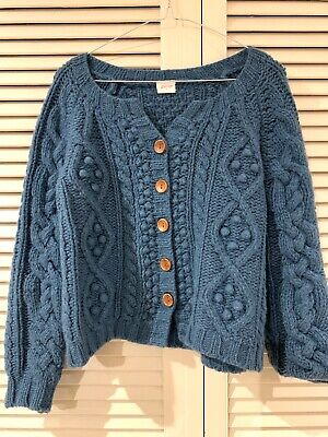 AU145 • Buy Cute GORMAN Cable Cardigan Jumper Sweater  * Size 6 (fits 8 10)