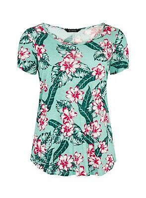 New With Tags Evans Tropical Print T Shirt Top Size 18 • 8.99£