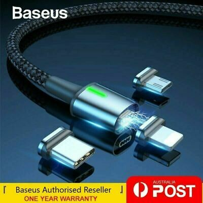 AU14.49 • Buy Baseus Magnetic Type-C Apple Lightning Micro USB Cable Fast Charging Data Cable