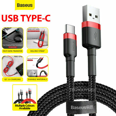 AU8.99 • Buy Genuine BASEUS USB TYPE-C Fast Charge Charging Data Sync Cable Cord
