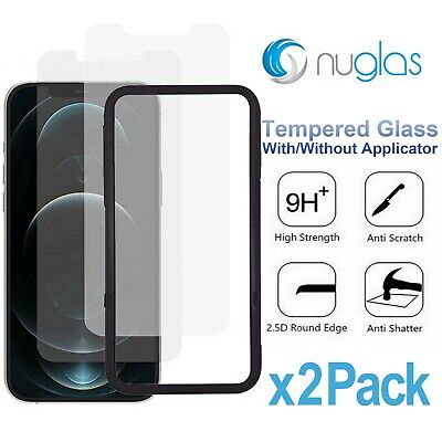 AU7.99 • Buy 2x NUGLAS Tempered Glass Screen Protector Apple IPhone 12 11 Pro XS Max XR 8 7+