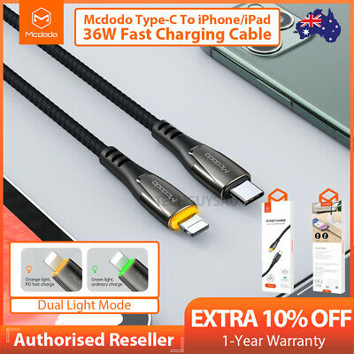 AU11.49 • Buy MCDODO Auto Power Off PD Fast Charging Type-C Cable Data Cord For IPhone IPad
