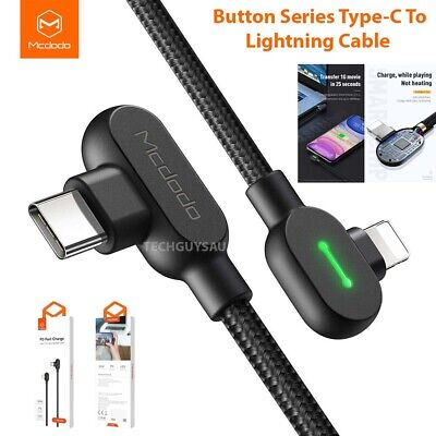 AU13.49 • Buy Mcdodo USB-C PD Fast Charging Cable Data Type C To For Lightning 36W For IPhone
