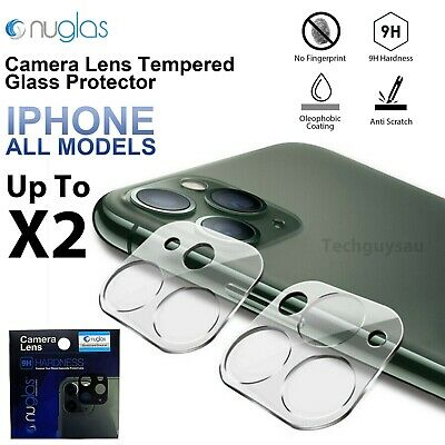 AU5.79 • Buy Nuglas Apple IPhone 12 11 XS XR Max Camera Lens Tempered Glass Screen Protector