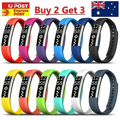 AU4.49 • Buy New Replacement Silicone Wrist Band Secure Buckle Fitbit Alta HR / Alta 2 Strap