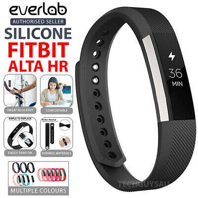 AU4.49 • Buy Replacement Band Fitbit Alta HR Silicone Wrist Watch Strap Secure Buckle
