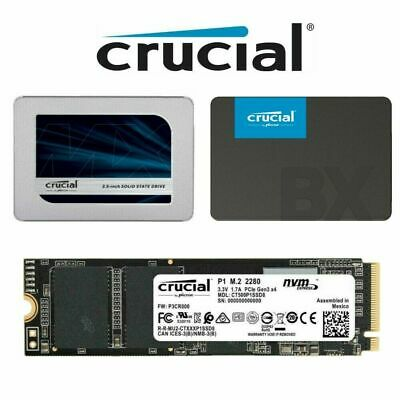 AU84.99 • Buy 250GB 500GB 1TB 2TB Crucial SSD BX500 MX500 2.5  SATA Internal Solid State Drive