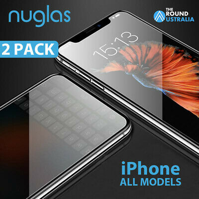AU6.90 • Buy 2x NUGLAS GENUINE Tempered Glass Screen Protector IPhone X XS Max XR 8 7 6s 11 +