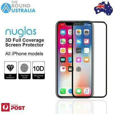 AU9.95 • Buy 3D NUGLAS Full Coverage Screen Protector For IPhone 12 11 Pro XR Xs Max 7 8 Plus