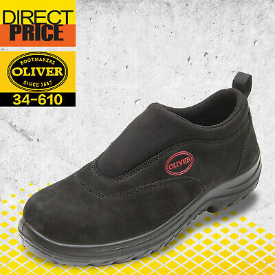 AU129.25 • Buy Oliver Work Boots, 34610, Steel Toe Safety Black Slip-On Sports Shoe Low Cut NEW