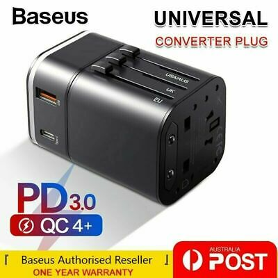 AU29.99 • Buy Baseus 18W USB + Type C Universal Travel Adapter Power Plug Charger Converter