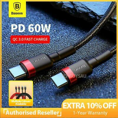 AU10.95 • Buy Baseus USB Type C To USB-C Cable QC3.0 60W PD Quick Charge Cable Fast Charging