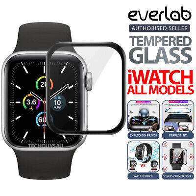 AU5.99 • Buy Apple Watch Series 1/2/3/4 Tempered Glass Screen Protector 3D Full 38 42 40 44mm