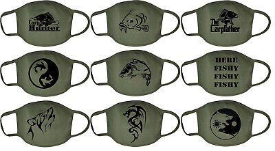 CARP FISHING Face Mask Washable Breathable Reusable Protection Fish Wolf Tribal • 5.99£