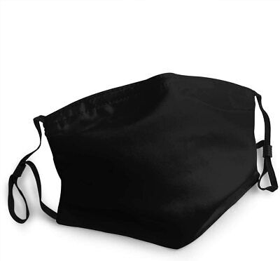 Washable Reusable Cotton Fabric Black Face Mask With Respirator PM 2.5 Filter • 1.75£