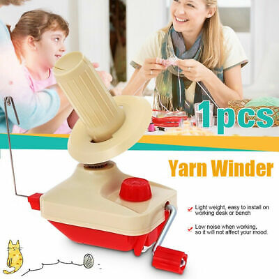 Yarn Winder Fiber Hand Operated Wool String Thread Skein Ball Holder Machine • 14.99£