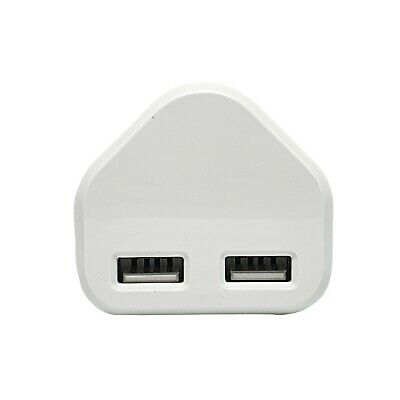 £4.73 • Buy Speedy Fast Charger Dual 2 Port USB 3 Pin UK Mains Wall Plug Adapter UK 2.1A 5v