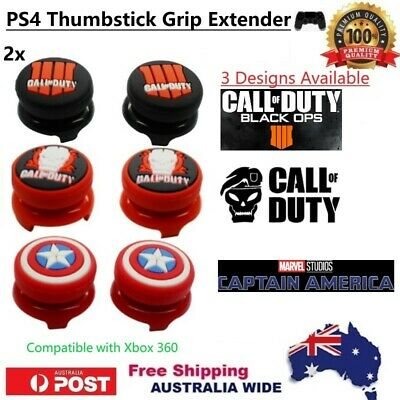 AU9.90 • Buy PS4 & Xbox 360 Controller Thumb Stick Grip Cap Extender - 3 DESIGNS: COD Marvel