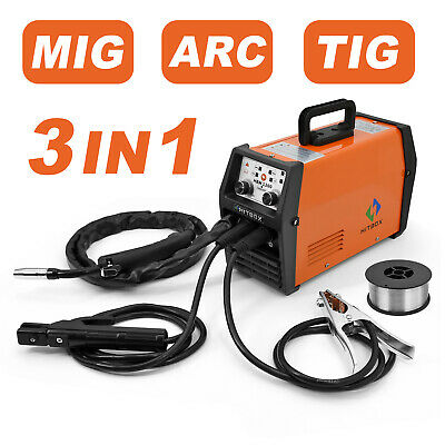 Mig/lift Tig/mma Mag 3 In 1 Dc Inverter Igbt 220v Welder Machine Gas No Gas • 149.99£