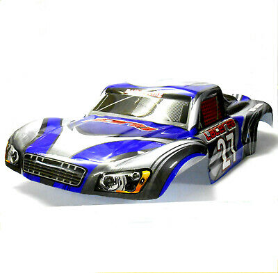 73911 RC 1/8 Scale Monster Truck Truggy Body Shell Cover Blue Grey Short Course • 26.99£
