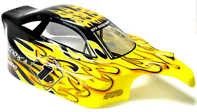 81338 Off Road Nitro RC 1/8 Scale RC Buggy Body Shell Cover Flame V2 • 17.99£