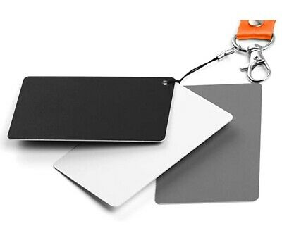 Fotover Grey Card White Balance Card,3 In 1 Digital Color Correction Set 18% Exp • 5£