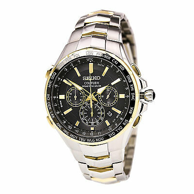 $ CDN503.97 • Buy New Seiko Coutura Radio Sync Solar Chronograph Two Tone Steel Mens Watch SSG010
