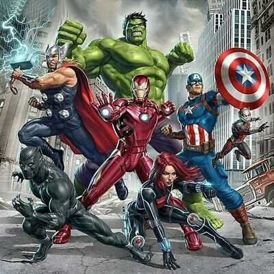 AU16.99 • Buy 5D Full Drill Diamond Painting Avengers Embroidery Cartoon Cross Stitch Kits Art