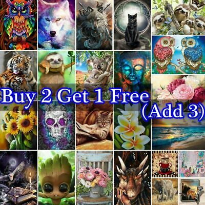 AU14.89 • Buy DIY 5D Full Drill Diamond Painting Cross Stitch Hand Embroidery Decor Craft Kits