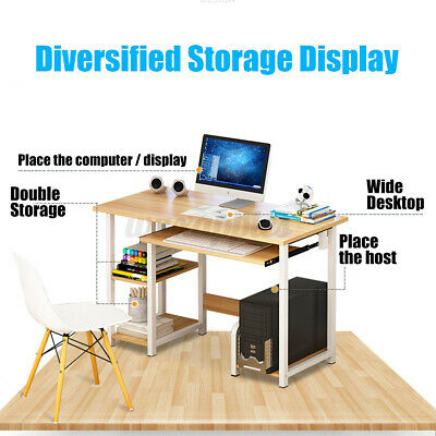 AU105.55 • Buy Computer Table Desk Laptop Student Study Drawer Storage Home Office Unit