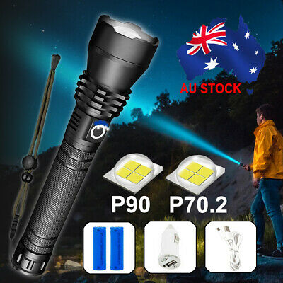 AU31.34 • Buy XHP90 Most Powerful 120000LM Tactical 3 Mode Zoom Flashlight LED Hunting Torch