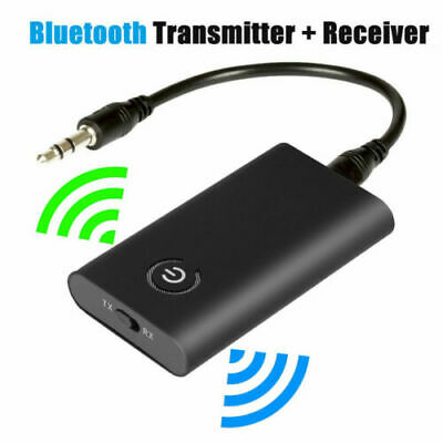 Wireless Bluetooth 5.0 Transmitter Receiver A2DP 3.5mm Audio Jack Aux Adapter • 7.39£