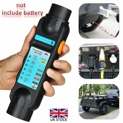 7 Pin Towing Bar Car Trailer Caravan Light Wiring Circuit Tester Plug Socket UK • 6.99£